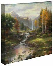 Thomas Kinkade Reflection of Family 14 x 14 Canvas Wrap
