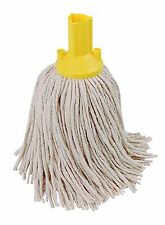 10 x 14oz Socket Mop Head Yellow Floor Cleaning Industrial Heavy Colour Coded