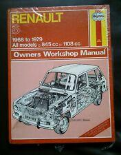 Renault 6 New haynes workshop manual 1968-1979