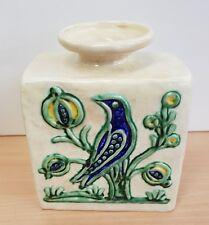Vecchio Vaso THUN da Collezione Vintage cm 16,5 raro rarissimo Uccello Melograno