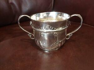Very Rare Queen Anne Britannia Silver Porringer