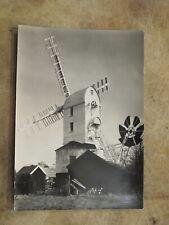 Suffolk Real photographic postcard -- Saxtead Green Post Windmill Nr Woodbridge