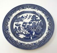 "BLUE WILLOW China Staffordshire England Dinner PLATE 10"" Churchill"