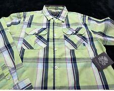 NWT NEW ENGLISH LAUNDRY Boy's Long Sleeve Button Up SHIRT Size 14/16 Plaid