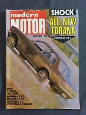 MODERN MOTOR JUNE 1974 ALL NEW TORANA DATSUN 260Z HONDA CIVIC BMW NEW LOTUS