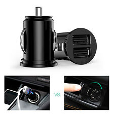 Car Truck Dual 2 Port USB Mini Charger Adapter for iPhone Black 12V Power New
