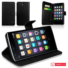 Black Premium Wallet Leather Case Cover for OnePlus One 1 1 A0001