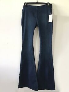 FREE PEOPLE JUST FLOAT ON Air Flare Dark Jeans  SZ 26 Blue NWT