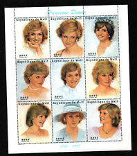 $Mali Sc#911-912 M/NH/VF, Princess Diana Mini Sheets, Cv. $25