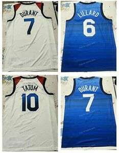Men Custom Japan Durant Booker Tatum Lillard USA Basketball Jersey