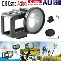 For DJI Osmo Action Camera Aluminium Protective Cage Case + 52mm UV Lens Adapter