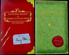 Harry Potter  *QUIDDITCH* plus *FANTASTIC BEASTS* 'as new' 1st Editions 2001