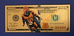 The Avengers ZEUS Gold $1 Million Banknote Marvel Super Heroes