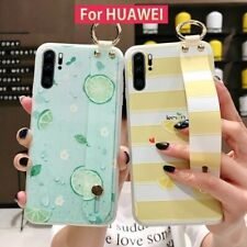 Phone Holder Case Silicone Soft TPU Wrist Strap Waterproof Cover For Huawei