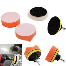 Gross Buffer Waxing Pad +Drill Adapter For Car Shell Window Light Polisher New