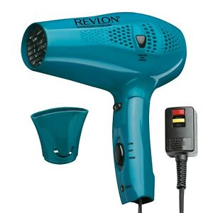 RVDR5175 Revlon Essentials Retractable Cord Hair Dryer, Teal Concentrator NEW