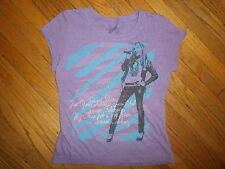 HANNA MONTANA T SHIRT Miley Cyrus vtg Purple Secret Pop Star Disney TV Show 5 6