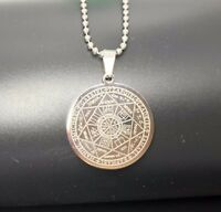 Man Woman Seals of the Seven Archangels Pendant Necklace Stainless Steel