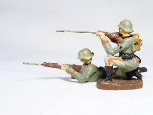 Lineol Elastolin D Bundle 2 Soldiers Germans 1939 Material Composite 60 MM