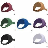 Womens Ladies Ponytail Baseball Hat Adjustable Breathable Cap Bun Sport Mes L4A6
