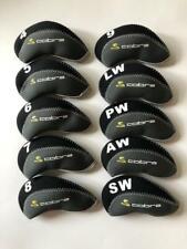 10PCS Golf Iron Headcovers for Cobra Club Head Covers 4-LW Black&Gray Universal