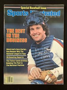 Gary Carter Signed Sports Illustrated 4/4/83 Expos No Label Autograph JSA