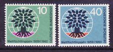 Germany 807-08 Mnh Og 1960 Uprooted Oak Emblem World Refugee Year Set Vf