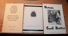 JAPANESE NETSUKE Auction Catalogs 1970 1973 Snuff Bottles Inro Prices for two