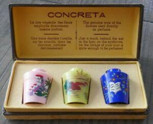 "Vintage Molinard ""Concreta"" Box Set of Perfume - Genuine Wax of Flowers"