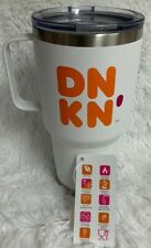 Dunkin Donuts 28oz Stainless Handle Tumbler Double Wall Insulated Travel Mug NEW