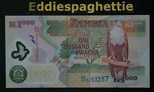 Zambia 1000 Kwacha 2011 UNC P-44h