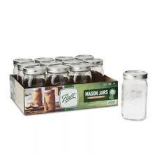 Ball Wide Mouth Quart Canning Mason Jars, Glass 32 Oz, 12 Pk ✅Same Day Ship✅