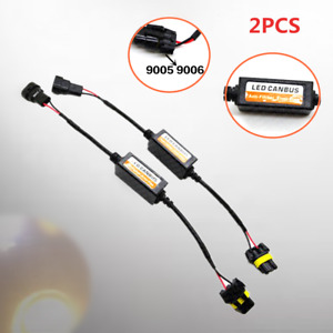 2PCS 9005 LED Auto DRL Fog Light Error Flicker Car Resistor Decoder  Device Part