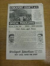 01/05/1948 Stockport County v Crewe Alexandra [Division 3 North] (folded). Any f