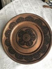 Antique Persian Copper Bowl And Plate With Fine Engrave.