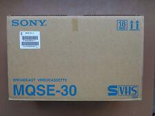 10 Cassette Video S VHS Vierge SONY MQSE-30 - K7 S-VHS Neuf