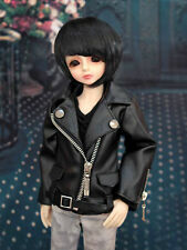 1/4 BJD MSD boy 40-44cm doll clothes outfit black leather jacket dollfie luts