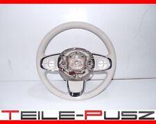 Original Fiat 500 2016 Lenkrad Lederlenkrad Multifunktion Weiss Steering Wheel