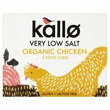 Kallo Poulet Stock Cubes-Low Salt & Organic - 48 g - 75606