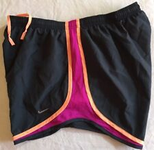 Nike Dri-Fit Tempo Running Shorts - Women's Large L (gray/magenta/peach) NWT