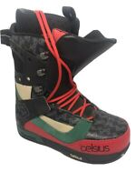Men's USA Size 11 Celsius Climate Lace Black Rasta Boots 🥾, Worn Once!