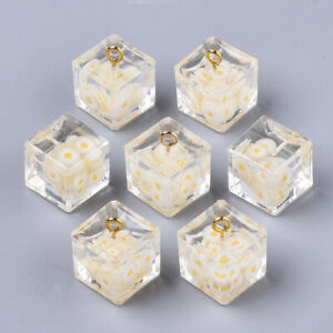 10x Daisy Pendant Necklace Flower Jewelry Cube Charrm For Earring Necklaces
