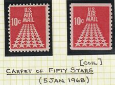 US 1968 CARPET OF STARS 10c AIR MAIL incl COIL COMMEMORATIVE STAMPS MNH