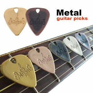 Fashion Metal Acoustic Electric Guitar Picks Classical Bass Plectrums Zinc Alloy
