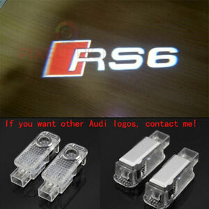 Audi RS6 2X LED Light HD Logo Projector Emblem Ghost Shadow Door Welcome Lights