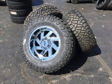 "Set 4 20"" Wheels/Tires MO988 20x12 8x170 Chrome 37x12.50R20 Nitto RidgeGrapplers"