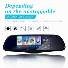 "7"" Touch Special Car DVR Camera Mirror GPS Bluetooth Android 4.4 Dual Lens Video"