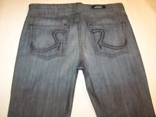 Rock & Republic Roth Jean Low Flare Confused Blue Sz 27 Run BIG Like Sz 28 / 29