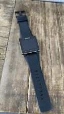 Sony SmartWatch 2 SW2 Aluminum Case Black Modern Buckle - (1274-8107)
