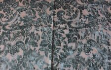 """Hamot"" Antique c1870 French Silk Cut Velvet Home Fabric~Green"